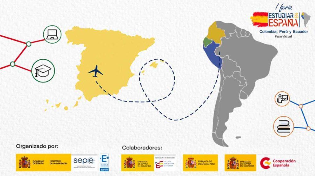 Cartel de la Feria Estudiar en España.