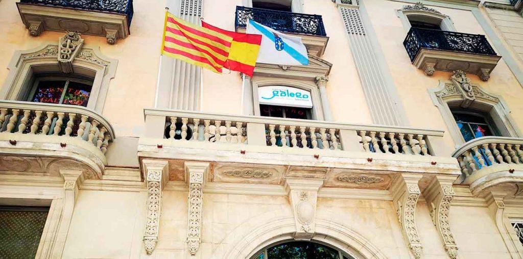 Fachada de la sede del Centro Galego de Barcelona.
