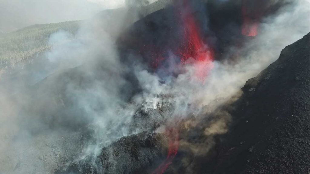 La erupción se produjo en la zona de Cumbre Vieja, en el municipio de El Paso en la isla de La Palma.