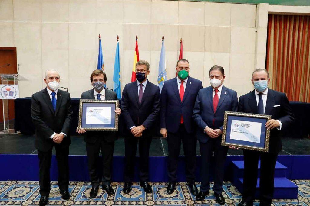 Manuel Fernández Quevedo, José Luis Martínez Almeida, Alberto Núñez Feijóo, Adrián Barbón, Alfredo Canteli y Pablo Junceda.