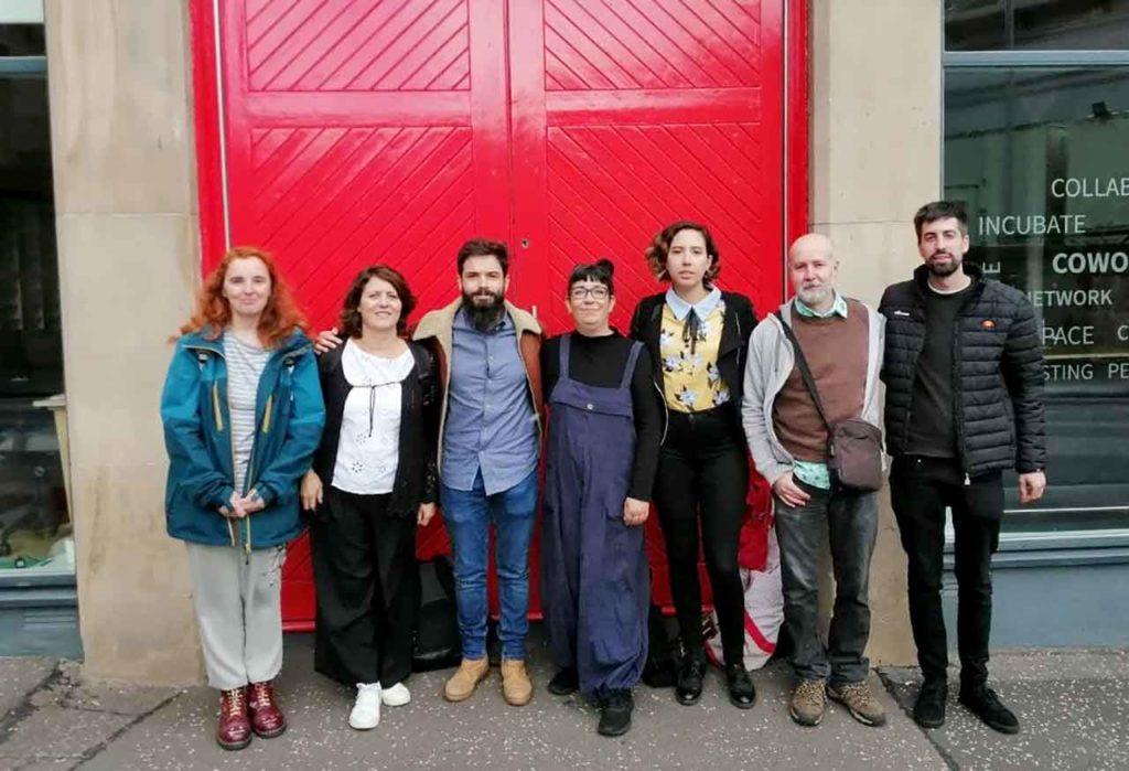 Los miembros del CRE de Edimburgo.