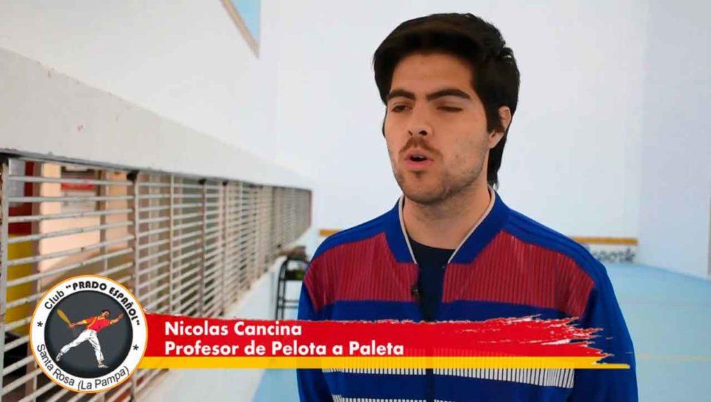 El profesor Nicolás Cancina.