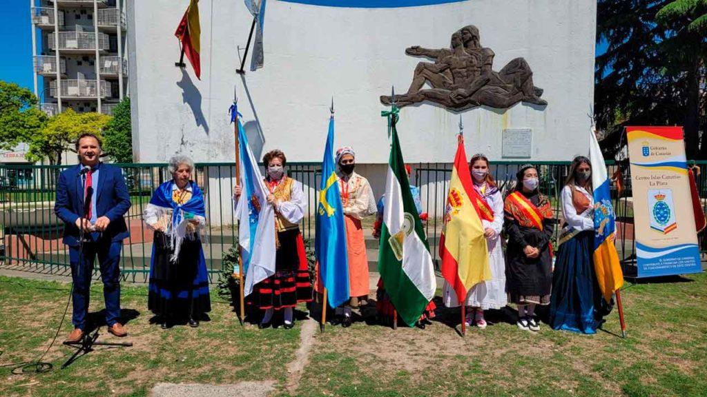 Las banderas de España y de sus comunidades autónomas engalanaron el acto.