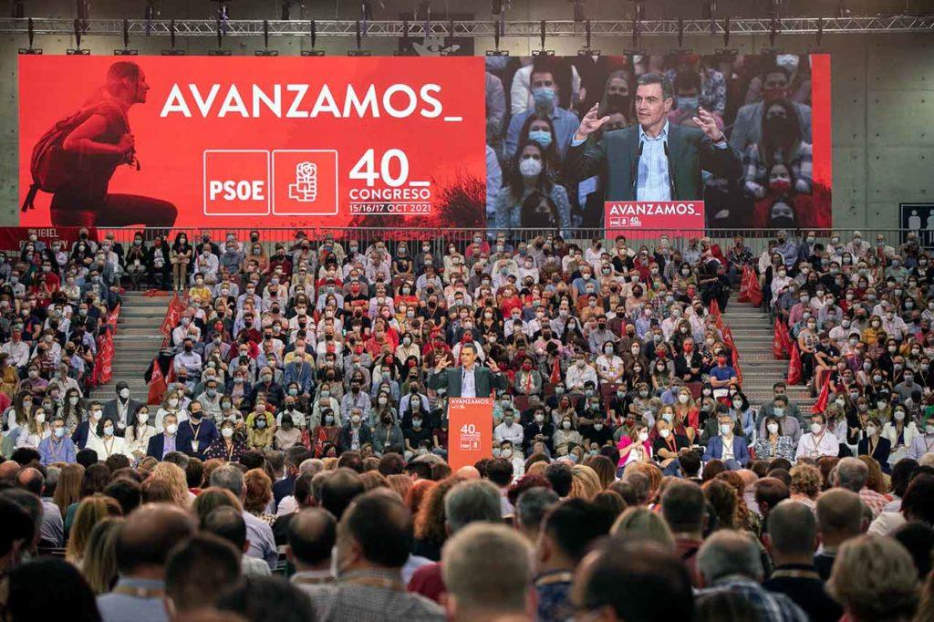 Pedro Sánchez clausuró el 40º Congreso del PSOE.