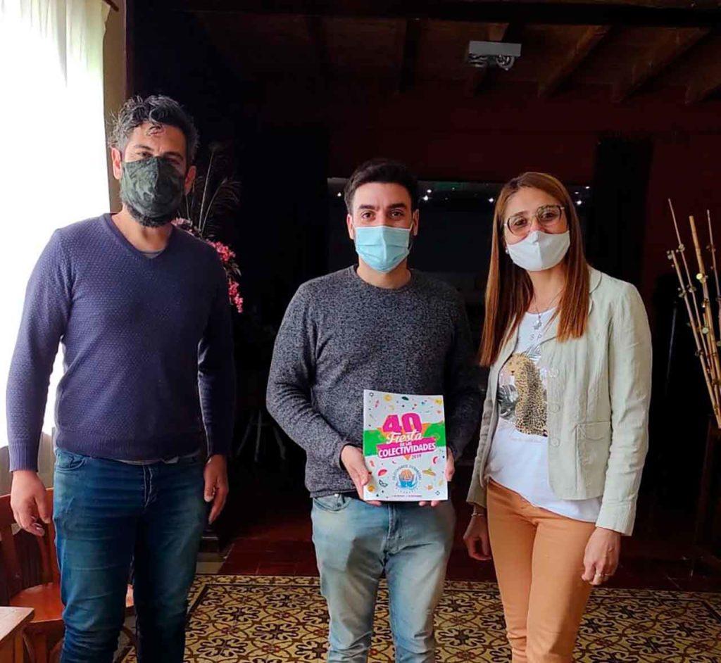 Héctor Osmar, Ramiro Ordoque y Andrea Paola Tolosa.