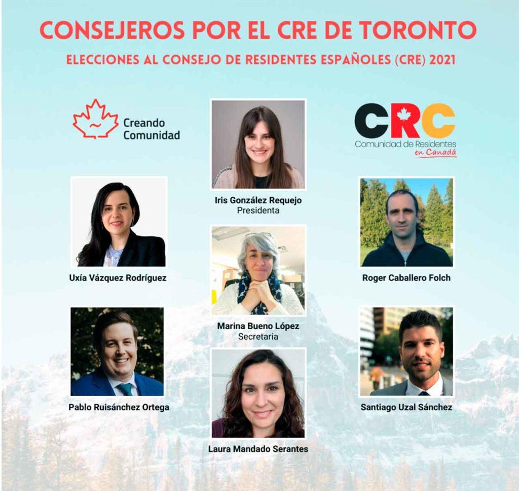 Miembros del CRE de Toronto.