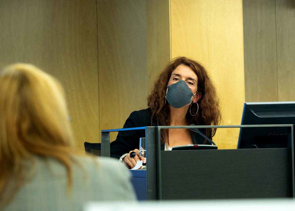 Intervención de Eva Ortega en el Congreso de los Diputados.