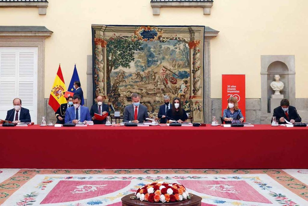 Los reyes presidieron la reunión.