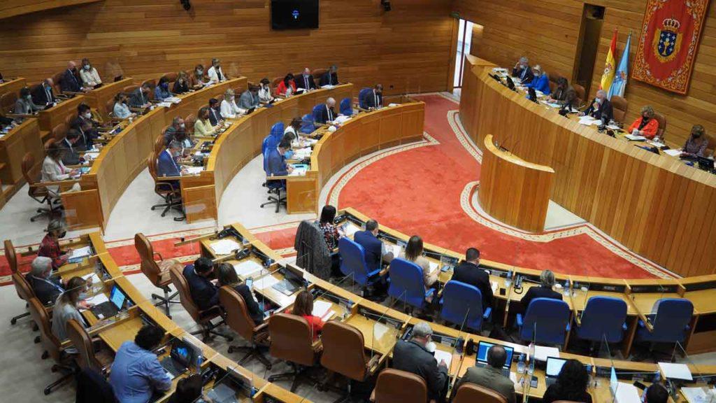 Imagen de la sesión del 15 de octubre del Debate sobre el estado de la autonomía en el Parlamento de Galicia.